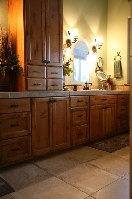 Custom k alder vanity traditional bathroom portland by kirk alan wood design llc for Bathroom vanity portland oregon