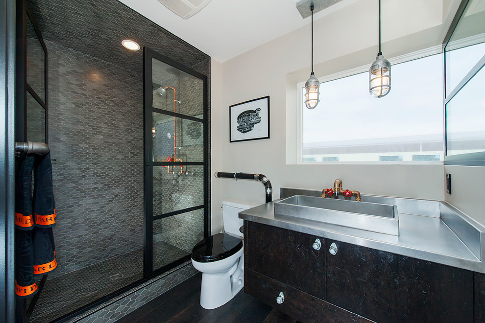 Custom Man Cave Industrial Bathroom Calgary By Rockcreek Builders