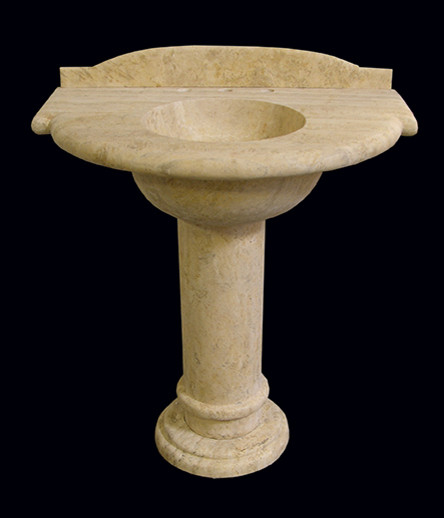 Custom Marble Limestone Pedestal Sink - Traditional - other metro - by ...
