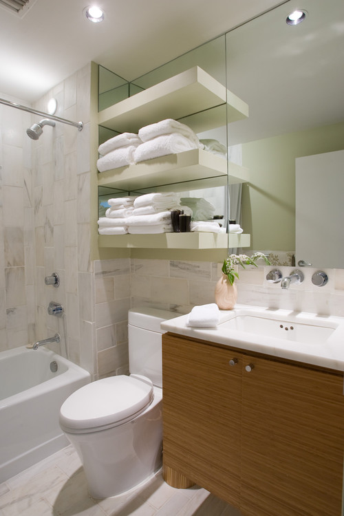Convenient Spaces for Bathroom Shelving - The Tub Connection