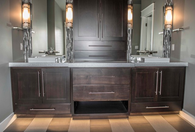 custom master bath vanity traditional bathroom