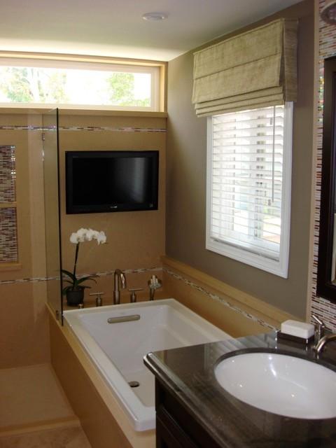 Custom master suite in irvine ca transitional bathroom orange county by sanctuary for Bathroom remodeling irvine ca