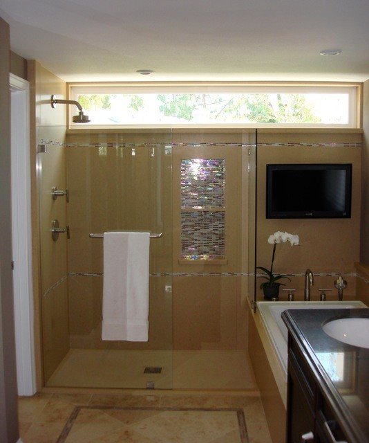Custom Master Suite In Irvine Ca Transitional Bathroom Orange County By Sanctuary