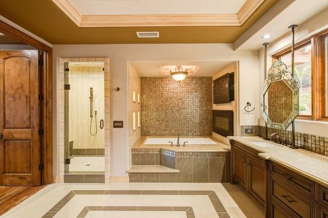Custom mediterranean style home for Mediterranean style bathroom