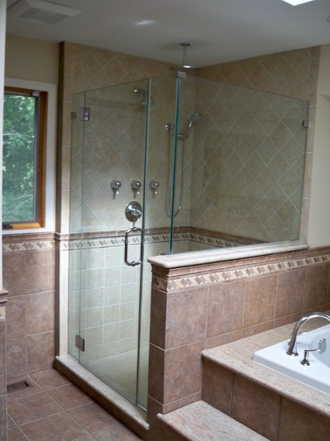 custom porcelain shower stall traditional bathroom philadelphia
