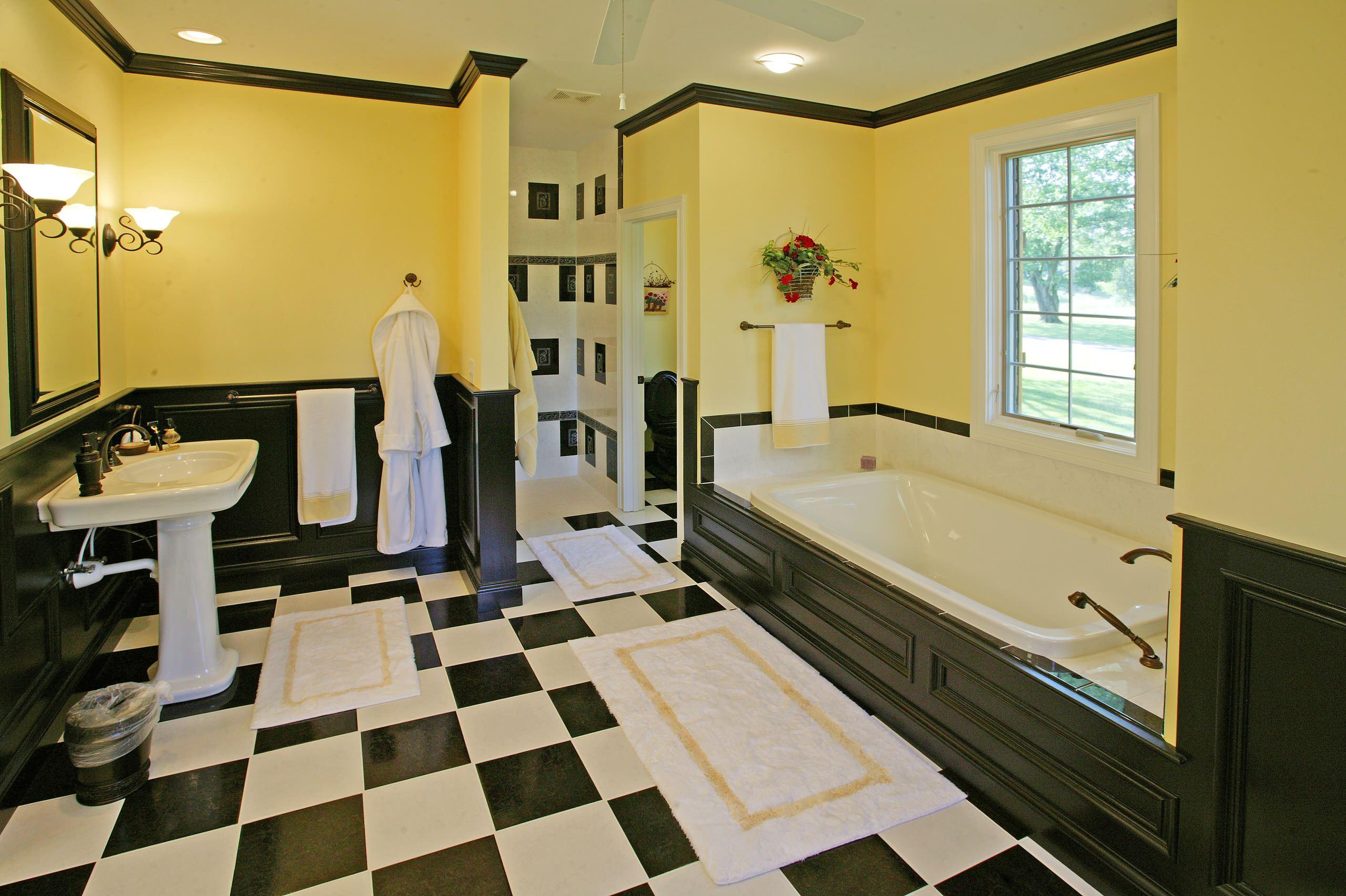 Black And Yellow Bathroom Ideas Houzz