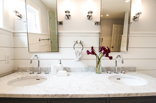Custom Seaside Bathroom Coastal Bathroom Portland Maine By E4 Interior Design Llc