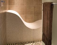 Custom Shower Bench contemporary-bathroom
