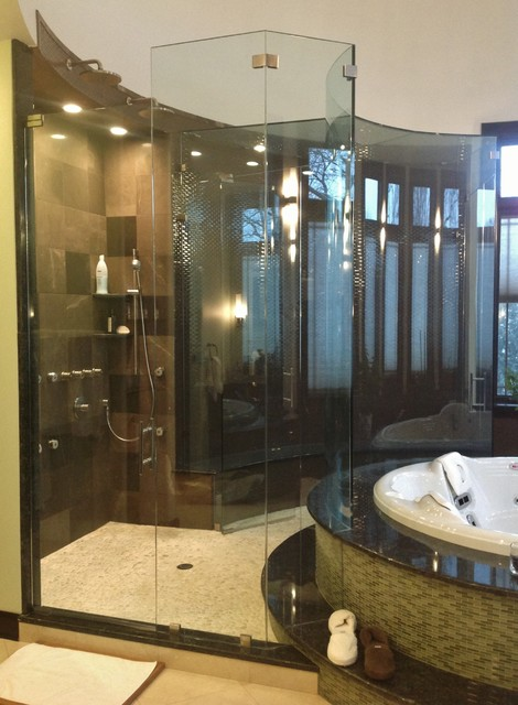 Custom Shower Doors Modern Bathroom Chicago By