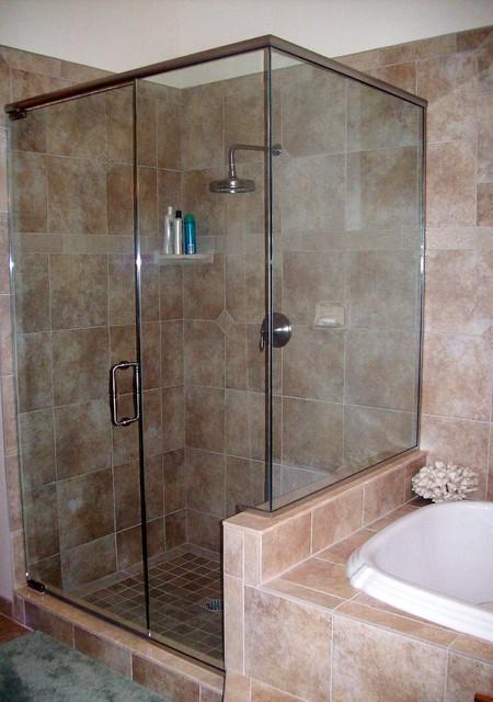 Custom Shower Enclosures by Woodys Enterprises traditional-bathroom