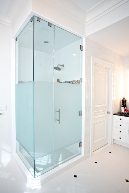 Custom Shower Glass - Contemporary - Bathroom - new york - by GlassWorks of Summit