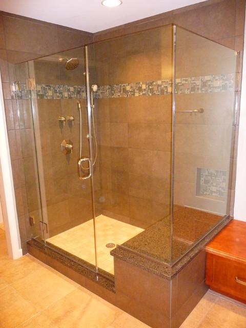 Custom Shower contemporary-bathroom
