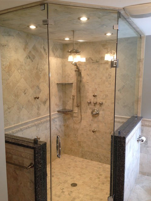Custom Shower Stalls Traditional Bathroom Newark