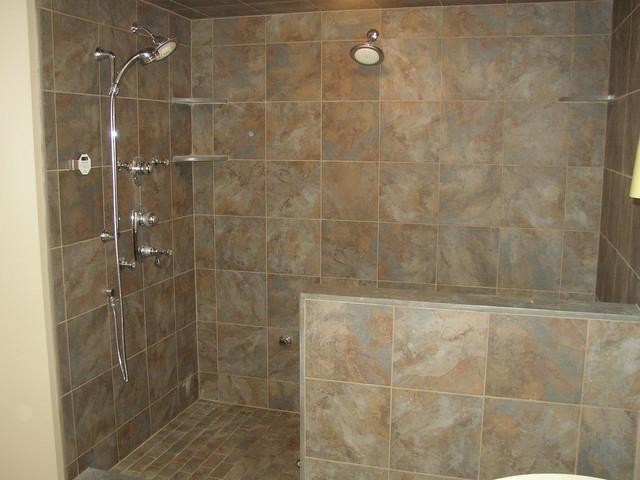 Custom shower stalls traditional bathroom newark for Shower stall remodel