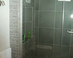 Custom shower contemporary bathroom
