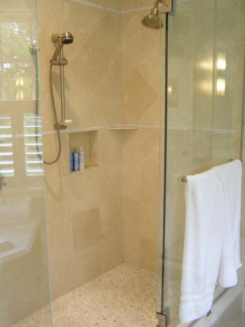 Custom Showers, Tub Decks and Tub Surrounds traditional-bathroom