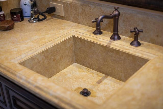 Mediterranean Bathroom Sinks: Custom Stone Sinks / Intregal Stone Sinks Mediterranean