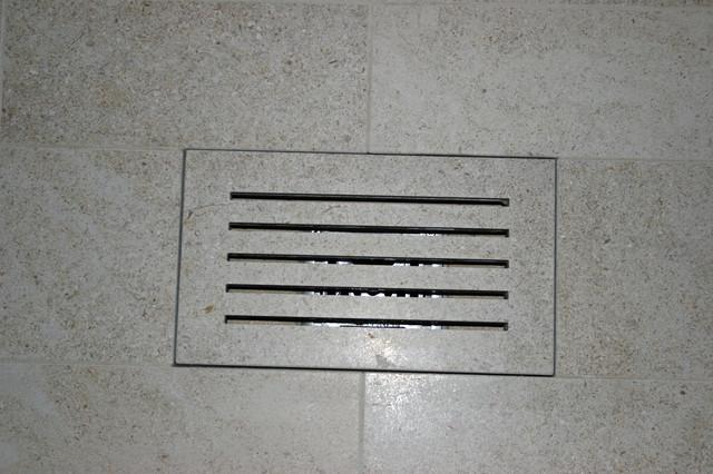 custom stone tile shower drain