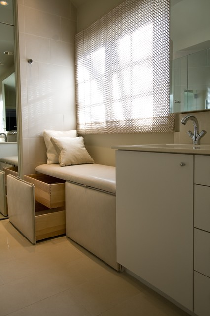 bathroom storage bench design 3
