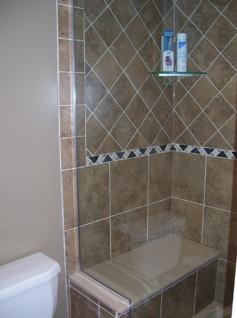 how to build a custom shower with bench