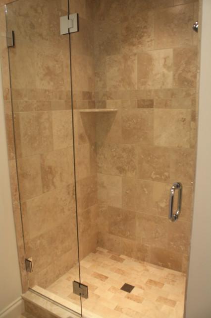 Custom tile bathrooms showers traditional bathroom burlington by valley floors for Custom showers for small bathrooms