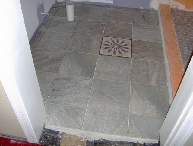 custom tile in bathroom traditional bathroom