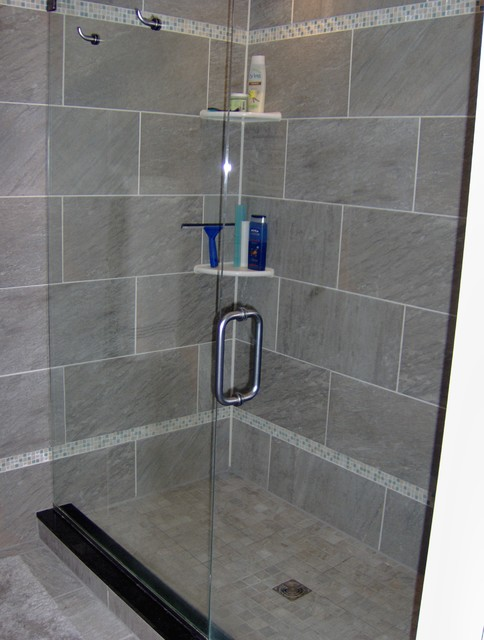 custom tile in bathroom contemporary bathroom