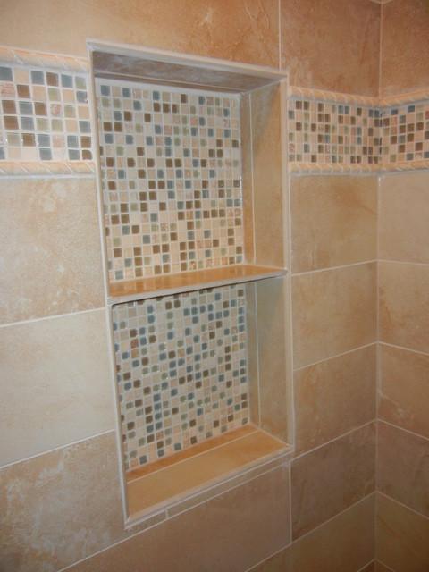 Custom Tile Niche In Master Bathroom Shower Marietta Ga