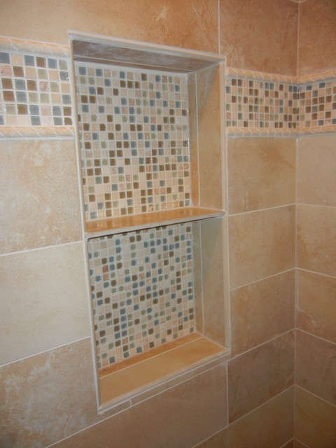 Custom Tile Niche in Master Bathroom Shower - Marietta, GA 30062 - Traditional - Bathroom ...