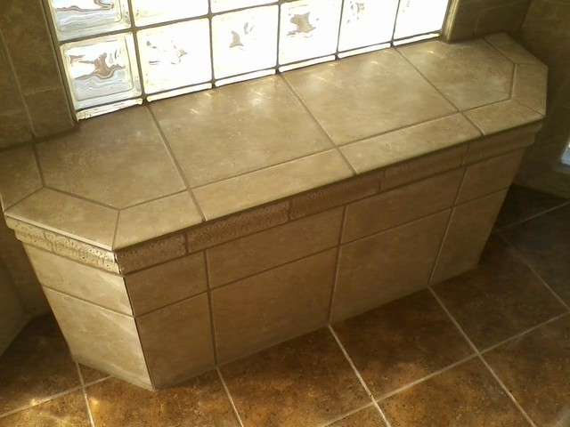 Custom Tile Shower Bench Contemporary Bathroom Charlotte By Kolby Construction Company