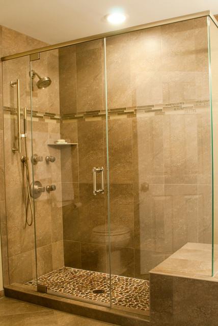 Custom Tile Showers traditional-bathroom