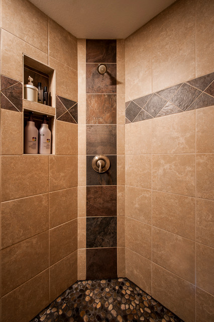 Custom tile walk in shower Bathroom tile showers