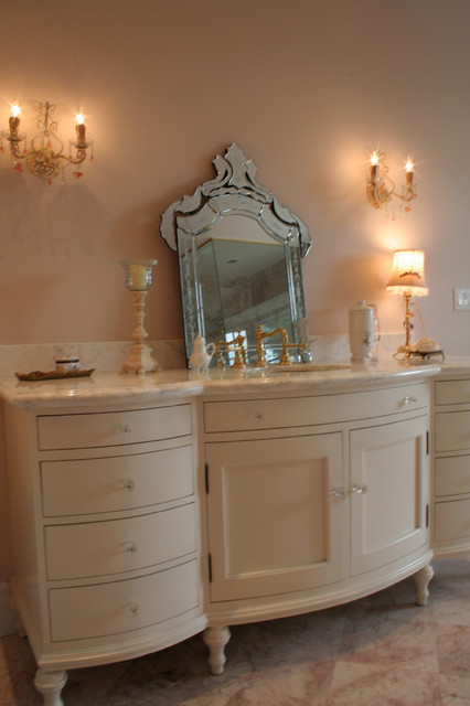 Custom traditional french bathroom vanity traditional for A bathroom in french