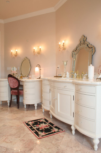 Custom Traditional French Bathroom Vanity Traditional