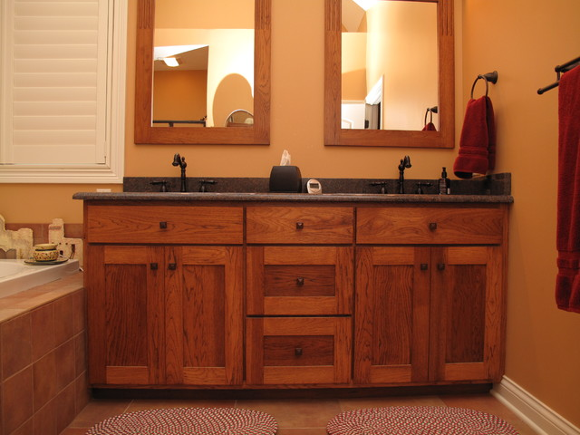 Craftsman Style Bathroom Wall Cabinets : Custom vanities craftsman bathroom indianapolis by
