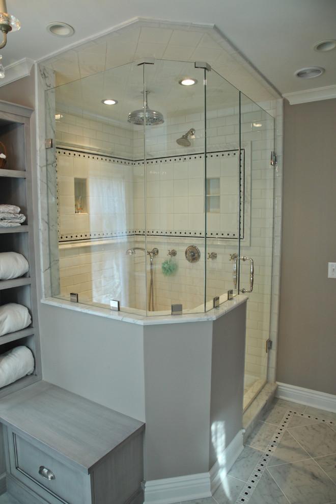 Bathroom - traditional bathroom idea in Newark