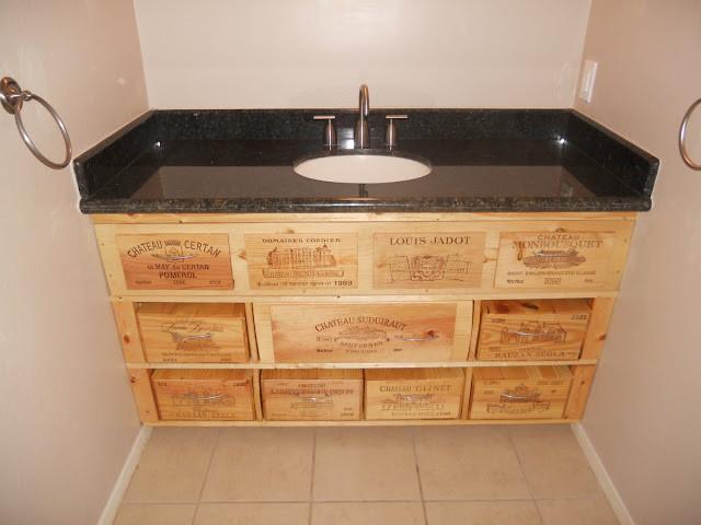 wine crate furniture. Custom Wine Crate Bathroom Vanity Modern-bathroom Furniture