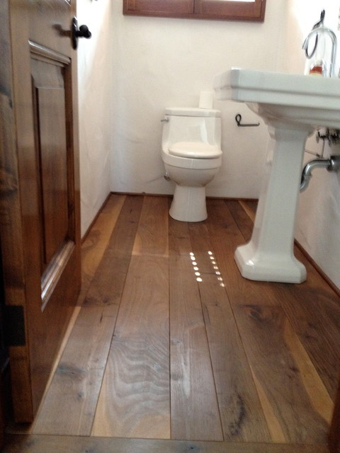 Custom wood floors for Wood floor bathroom