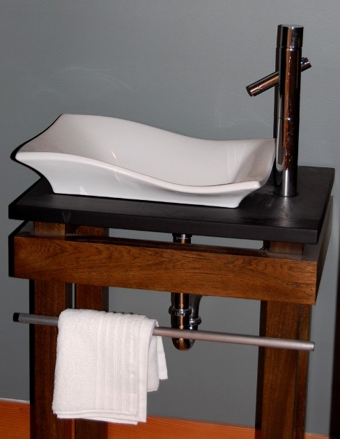 Custom Wood Sink Stand Contemporary