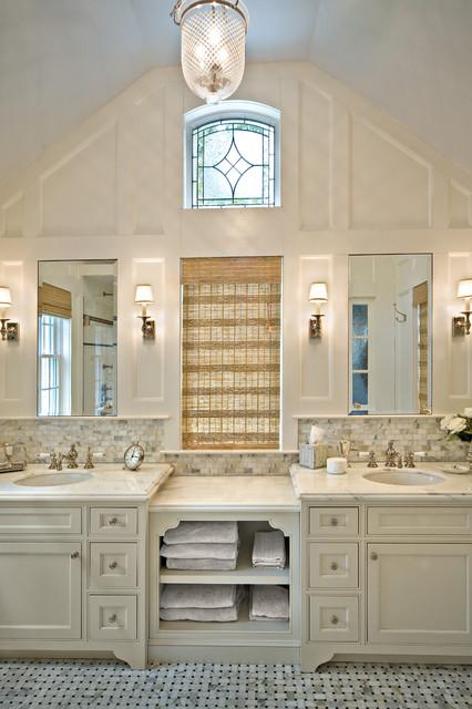 Custom Wood vanity traditional-bathroom