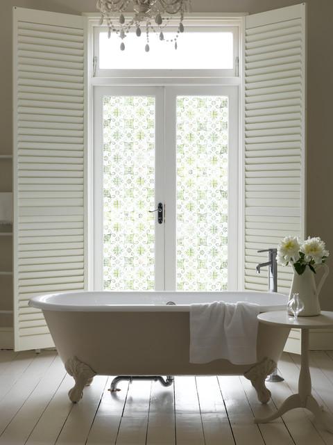 Cut Frost Window Film Design Fb139 Traditional Bathroom