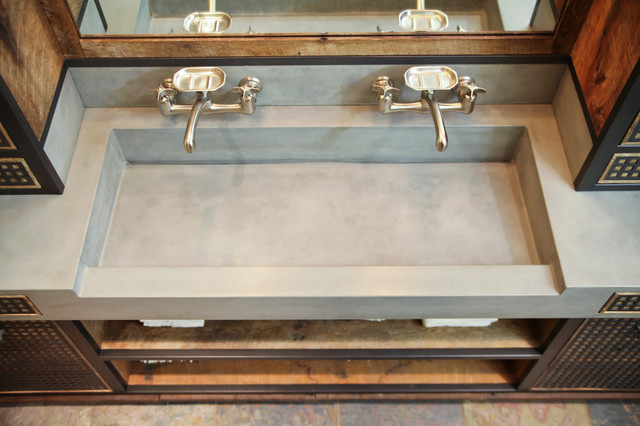 DA concrete sink and custom vanity - Industrial - Bathroom - other ...