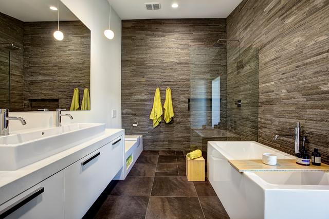 Daffodil mid century contemporary bathroom grand for Bathroom design grand rapids mi