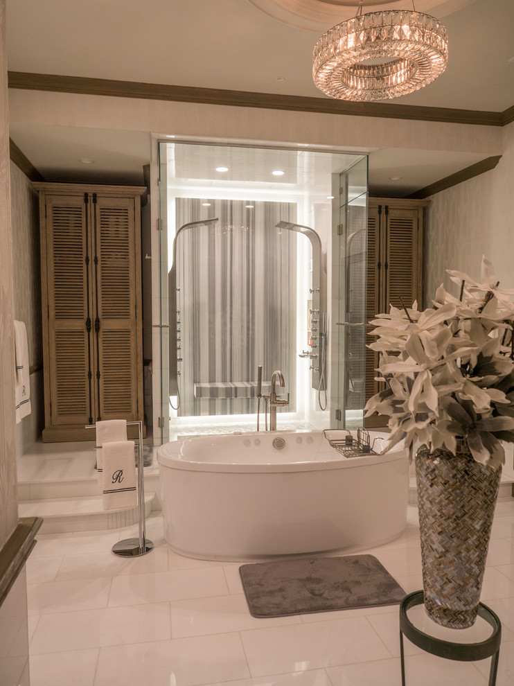 Dallas Custom Home - Contemporary - Bathroom - Dallas - by ...