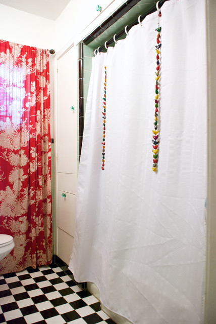 Dallas, TX: Bri and Trey Denton eclectic-bathroom