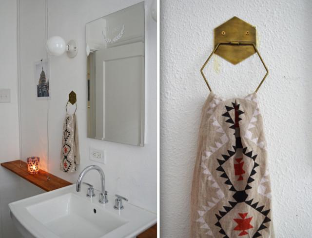 Dallas, TX: Sara & Rocky Garza eclectic-bathroom