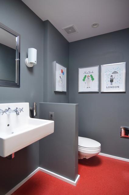 Dallas TX Stolp Contemporary Bathroom Dallas By Sarah Greenman - Bathroom partitions dallas tx