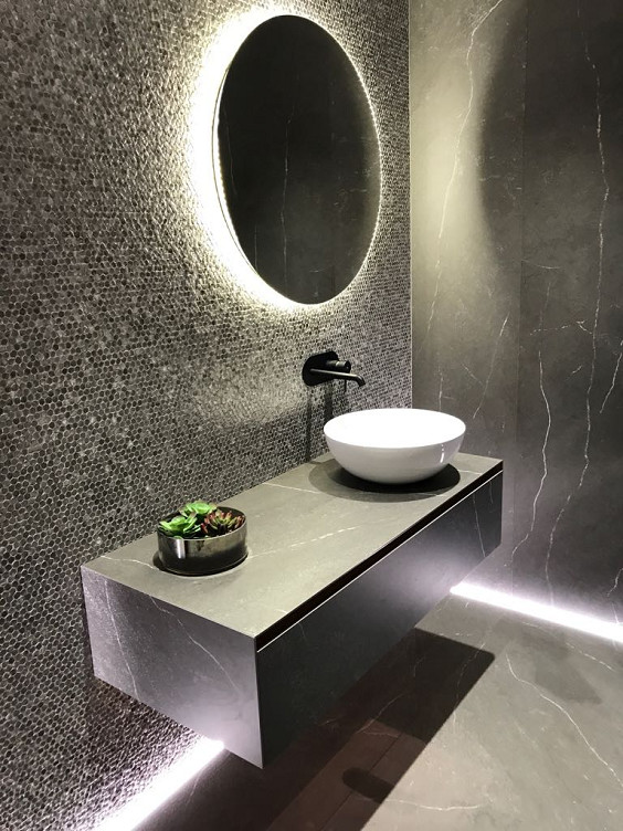 Dark And Moody Bathroom Contemporary Bathroom Dublin By Tilestyle
