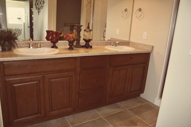 Dark Bathroom Cabinets traditional-bathroom