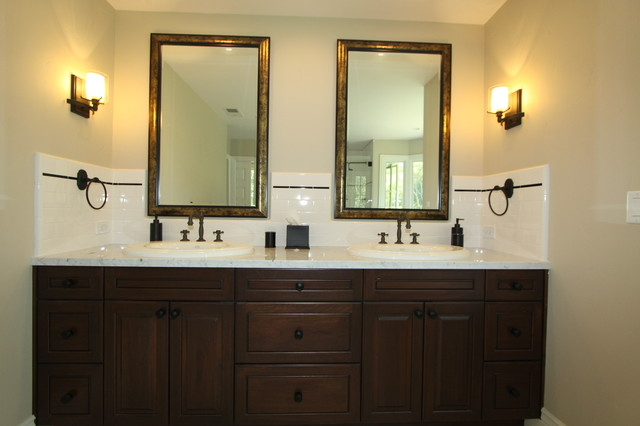 Dark Vanity Cabinet traditional-bathroom